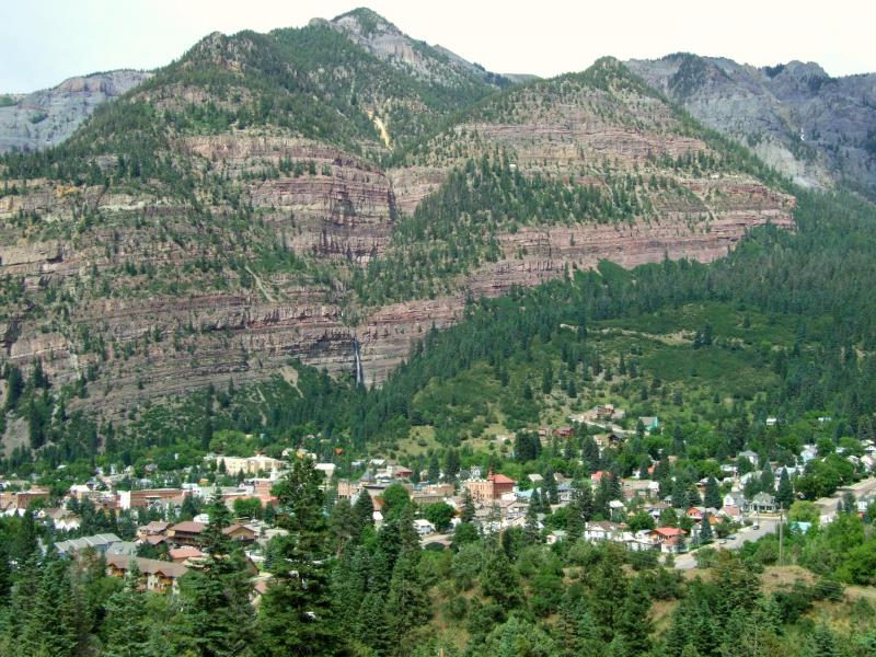 Ouray Colorado from Box Canyon 2008