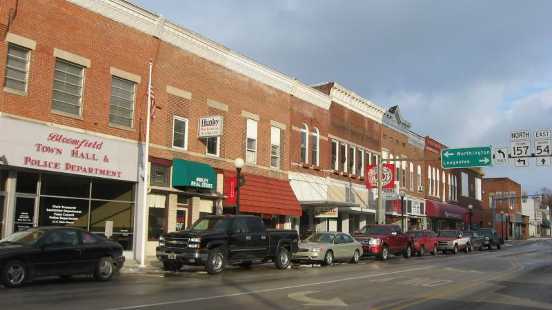 Downtown Bloomfield, Indiana