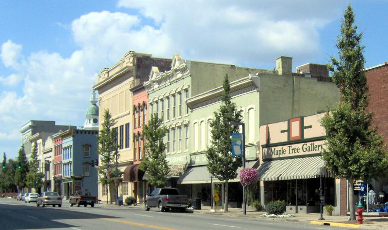 Danville, Kentucky Downtown view