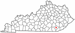 K Y Map-doton- Barbourville