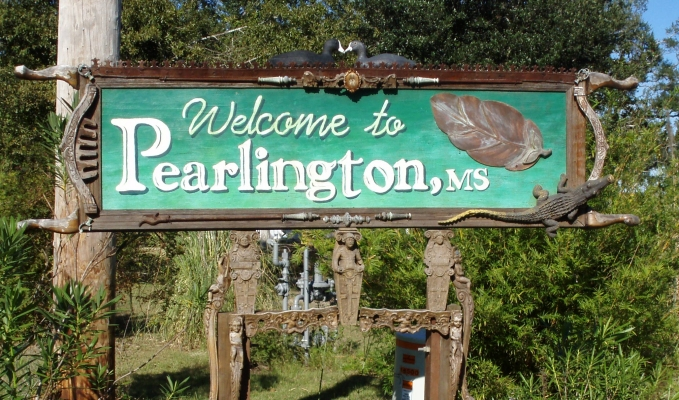 Pearlington mississippi sign