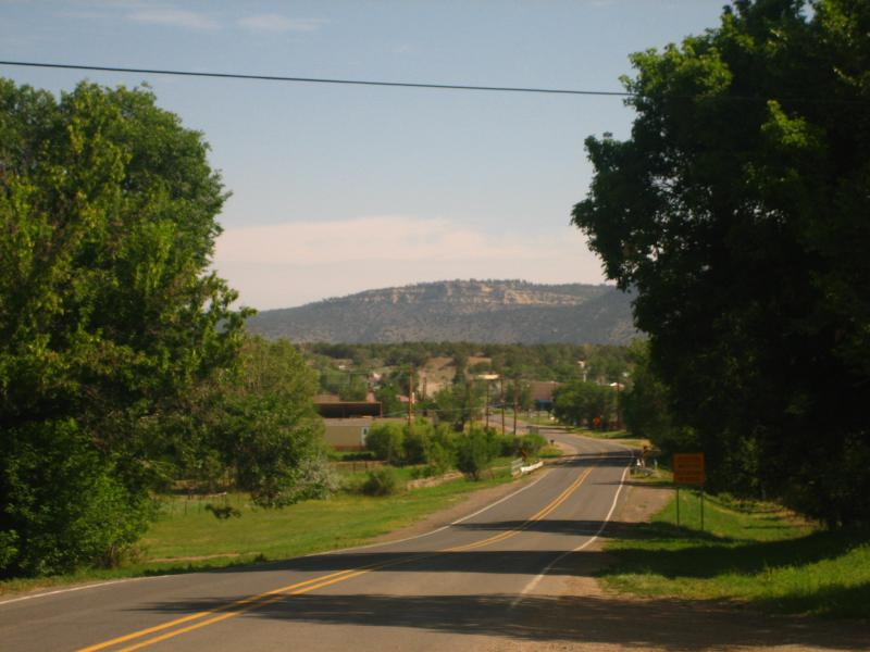 Mountain road west of Cimarron, N M I M G 0539