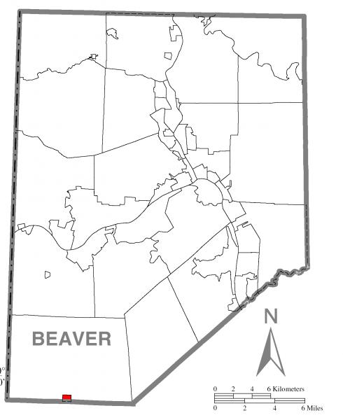 Map of Frankfort Springs, Beaver County, Pennsylvania Highlighted
