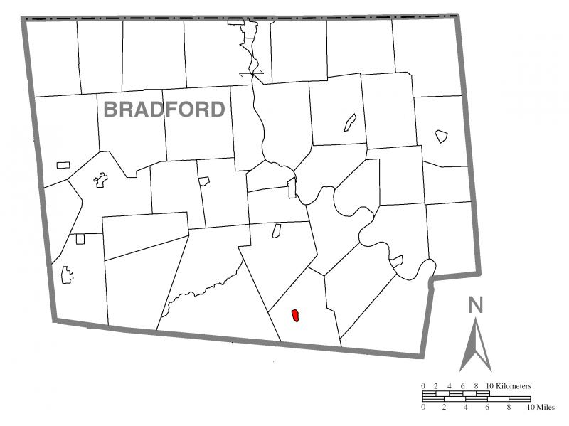 Map of New Albany, Bradford County, Pennsylvania Highlighted