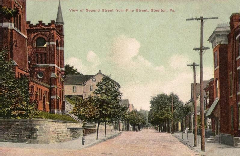 View of Second Street from Pine Street, Steelton, P A