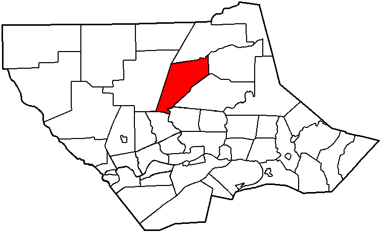Map of Lycoming County Pennsylvania Highlighting Lewis Township
