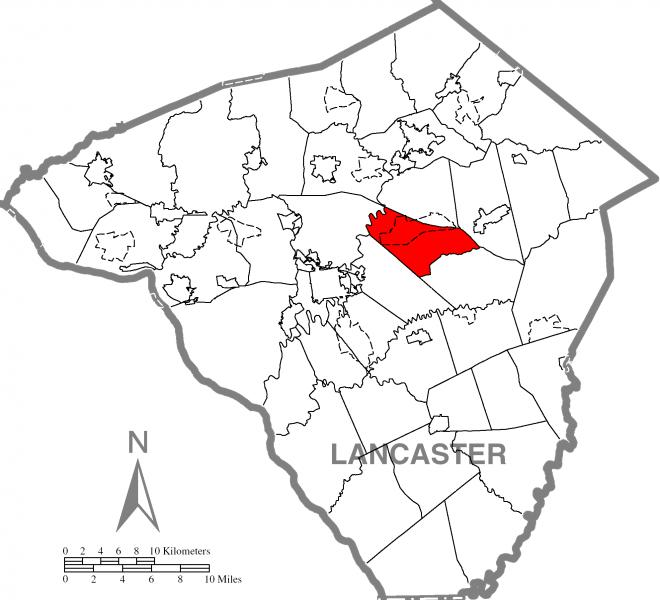 Upper Leacock Township, Lancaster County Highlighted