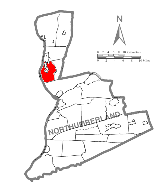 Map of Northumberland County Pennsylvania Highlighting West Chillisquaque Township