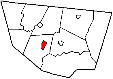 Map of Sullivan County Pennsylvania Highlighting Eagles Mere