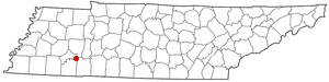 T N Map-doton- Milledgeville